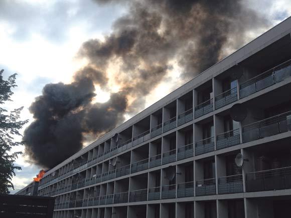 Politiet har konstateret, at branden i den tomme lejlighed på Bentesvej var påsat. Der er endnu ikke fundet nogen gerningsmand. Foto Anett S. Christiansen.  Foto: Anett Sällsäter Christiansen