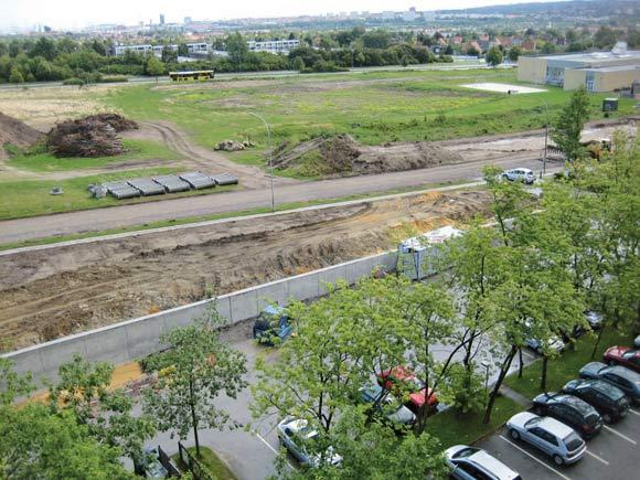 Der er ved at blive lavet støttemur ved Gudrunsvej i forbindelse  med 1. etape af vejprojektet.