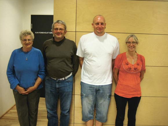 Den nye bestyrelse: Fra venstre suppleant Birgit Leth, Klaus Rahbek,  Claus Eskebjerg og Bernadette Gissel.