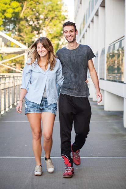 Marko med sin polske kæreste, Ola. De to traf hinanden i Danmark for to år siden.