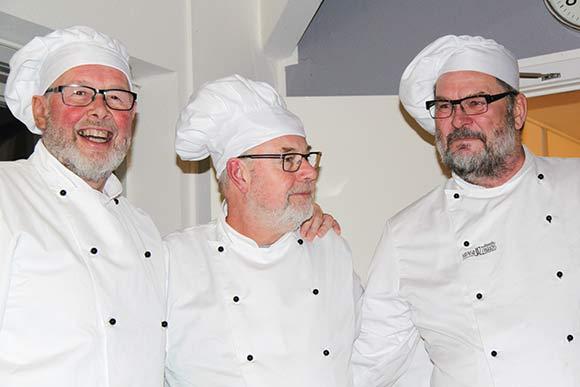 """Voldbækhaves tre """"Michelinkokke""""."""