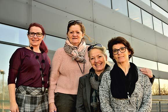 Fra venstre: Connie Nedergaard, Merete Poulsen, Marianne Vengsgaard og Helle Pia Rosendal.