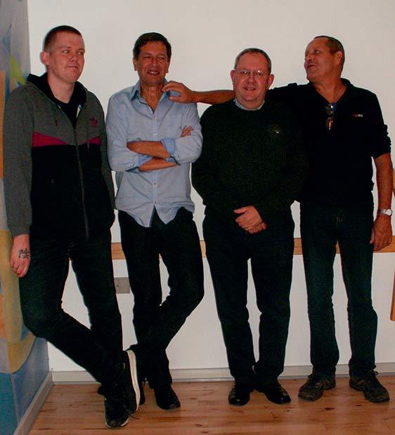 Ole (nyvalgt suppleant), Gert, Poul og Preben (genvalgt) udgør nu bestyrelsen i Højriisparken