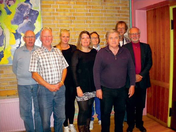 Den nye og genvalgte bestyrelse: Fra venstre Vagn Holmelund, Hartvig Vendelbo, suppleant Lena Lundager Hansen, Christina Kraul, Bente Heilmann, Ole Vad Odgaard, Erik Bløcher og Laurits Bloch.