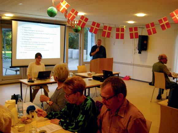 Edwin Juhl fremlagde bestyrelsens beretning for årets gang i Holmstrup.