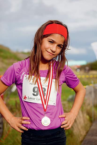 Jara er stolt af sin 3. plads.