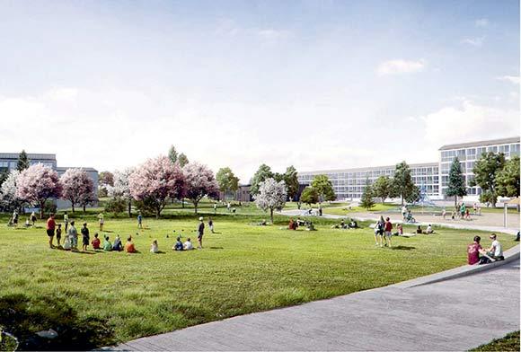 Det færdige forslag til byparkprojektet er blevet præsenteret  på beboermøder. Illustration: SLA arkitekter.