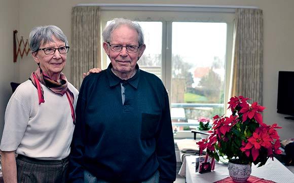 Knud og Else er flyttet fra eget hus i  Brabrand til lejligheden i Drejergården.