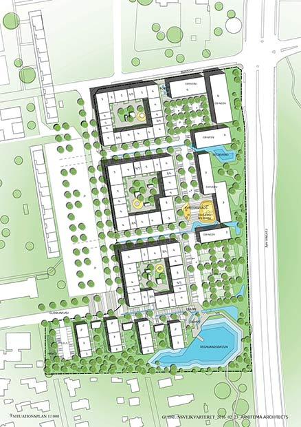 Dette forslag til bebyggelse på arealet syd for Globus1 skal nu lokalplanlægges.