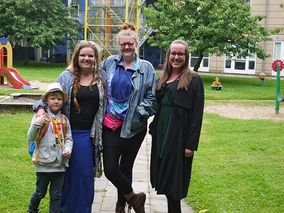 Carl, Mette, Asta og Sofie er klar til festival