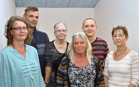 Den nye bestyrelse fra venstre: Anja Spalding (1.-suppleant), Michael Mondrup Wied, Kirsten Larsen, Annelie Elvborn, René Kramer Mønsted, Dorthe Gottlieb.