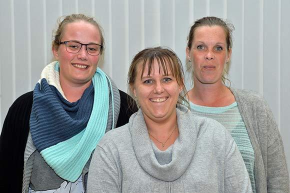 Den nye bestyrelse i Kildeagervej fra venstre. Mia Rahbek, Lonnie Ribergaard og Pia Dahlgren