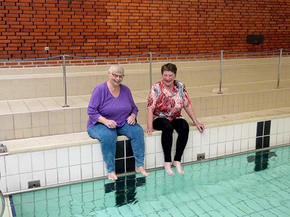 Inger og Lene udgør bestyrelsen i Liv-gym