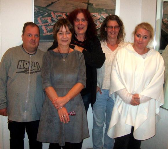 Den nye bestyrelse i afdeling 7. Fra venstre Jeppe Søndergaard, Dorthe Gottlieb, Angeline Merlit, Anja Spalding og Heidi Hansen.