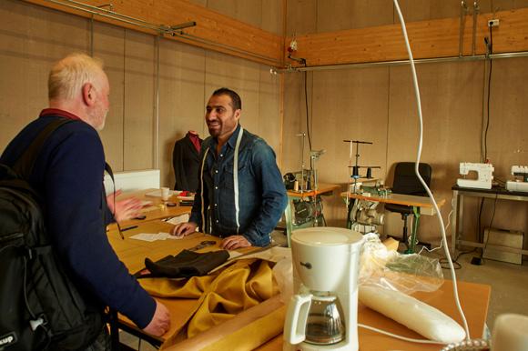 Mohammad Eissa havde mange besøgende og sikkert nye kunder.