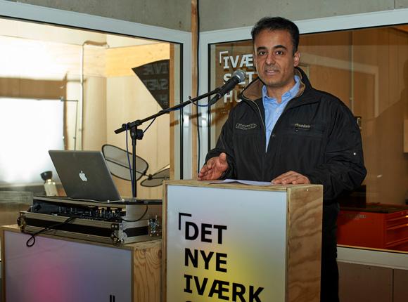 Nezar Ajjawi fra afdelingsbestyrelsen i Gellerupparken håber, at Iværksætterhuset vil skabe jobs til lokale.