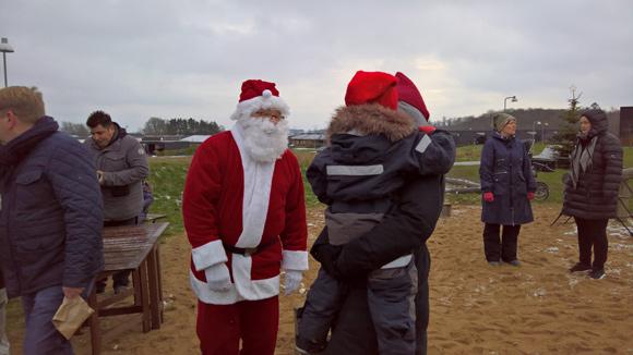 Julemanden kom selvfølgelig også forbi.