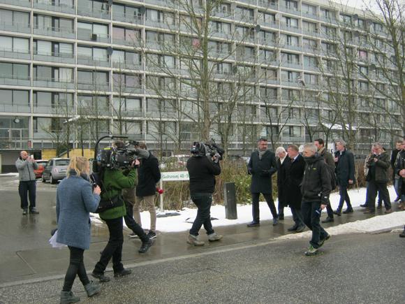 Der var stort medieopbud, da Lars Løkke blev vist rundt.