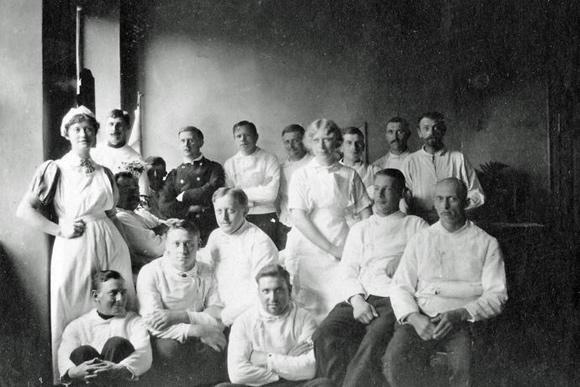 Syge- og plejepersonale på Garnisonssygehuset.
