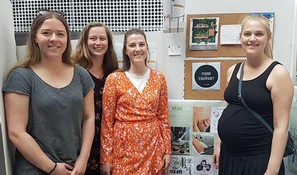 Cecilie Dollerup Ertmann, Rebecca Schaumann, Cecilie Julie Skov og Signe Sofie Skaastrup har fået ideen til Inspiretion.