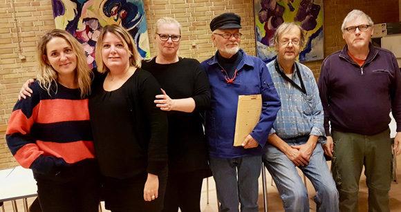 Afdelingsbestyrelsen er fra venstre:  Nyvalgt Martha Szapiel, Christina Kraul, Lena Lundager, Laurits Bloch, formand Erik Bløcher og Ole Vad. Vagn Holmlund kom ikke med på billedet.