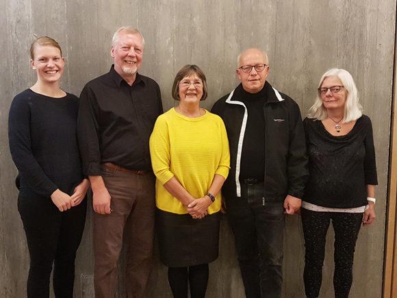 Bestyrelsen (fra venstre) Nadja Petersen, Jens Leth, Rita Malmstrup, Thor Utting og Winnie Hvas.