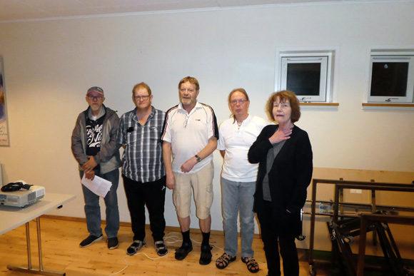 Fra venstre Frank Thomsen, John-Steen L. Wandbæk. Kurt Hansen, Esben Trige og Lise Ledet