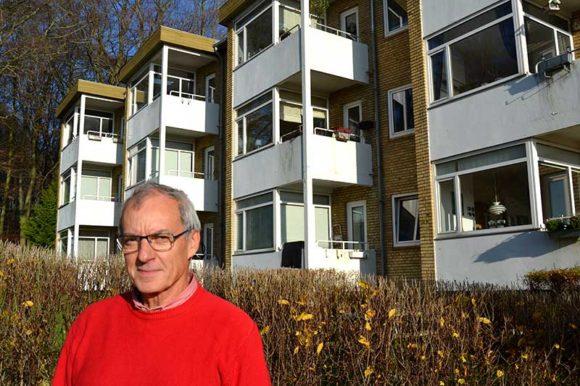 Afdelingsformand Asger Frederiksen er som maler kendt med renoveringsarbejder.
