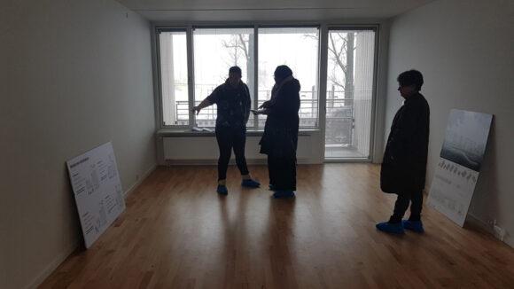 Værelserne er store, og flere af de besøgende var glade for de nye gulve.