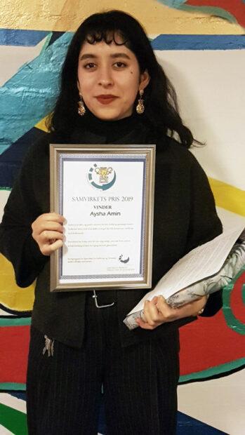 På Samvirkets Årsmøde den 29. januar modtog Aysha Amin Samvirkets Pris 2019