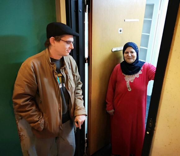 Najah Kamel Bachir gav ordet nabohjælp en helt ny betydning for en tidligere syg beboer.