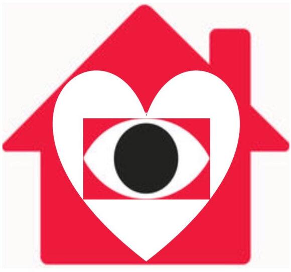 Skræppebladet har indsat et hjerte i Nabohjælps logo for at understrege, at nabohjælp i Brabrand Boligforening ikke kun er overvågning, men også aktive og gode naboer i hverdagen.