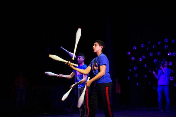 Altid god optræden af Cirkus Tværs.
