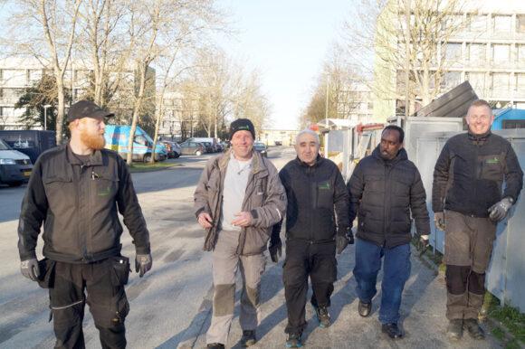 Humøret er højt hos Kevin, Peter, Mehmet, Mohamed og Dennis.