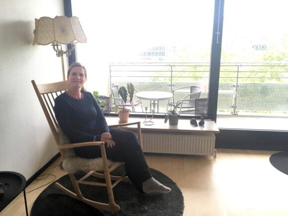 Før hun flyttede til Gellerup, var Linda Olsen lidt bekymret for at tage sine designermøbler med.