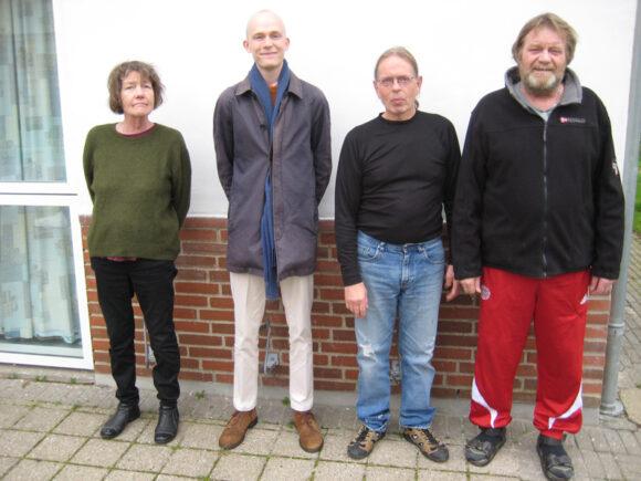 Bestyrelsen fra venstre: Lise Ledet, Matthias Ottesen Nielsen, Esben Trige og Kurt Bech Hansen.