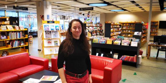 Bibliotekar og initiativtager Rikke Schmidt Maltesen.