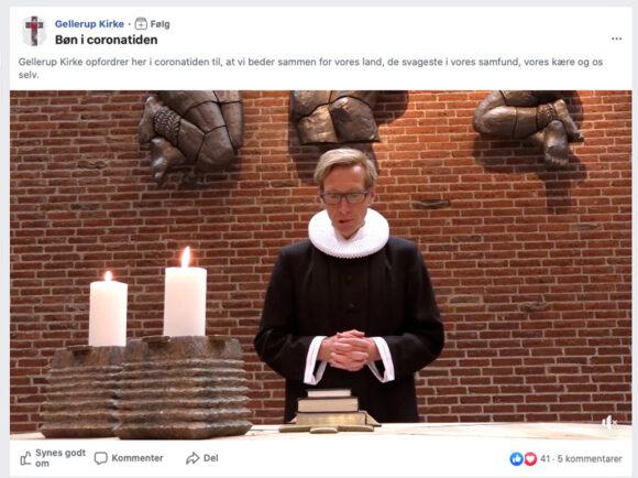 Præst i Gellerup Kirke, Niels Hviid, holder gudstjeneste live på facebook.