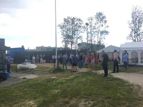 """""""Grundstens""""-receptionen blev på grund af corona holdt for en mindre, indbudt forsamling"""