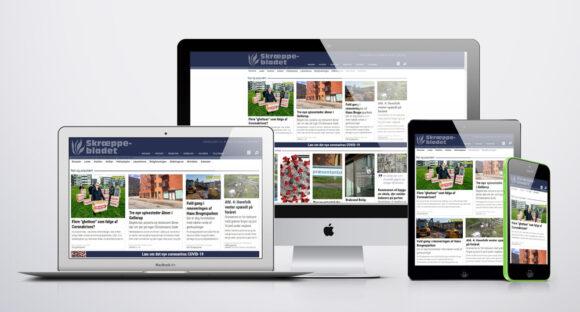Hjemmesiden tilpasser sig automatisk til computer, tablet og mobiltelefoner.