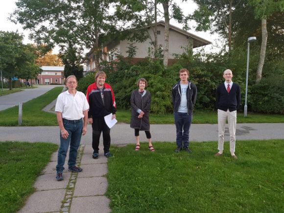 Bestyrelsen(fra venstre):Esben Trige, Kurt Sørensen, Lise Ledet, Frederik Daggård og Mathias Lange Kofoed-Ottesen.