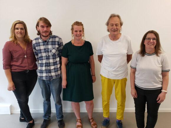 Den nye bestyrelse (fra venstre): Deirdre Bille, Mads Kjeldgaard, katja Kjær Bang Olsen, Anders Nielsen og suppleant Kirsten Meilstrup.