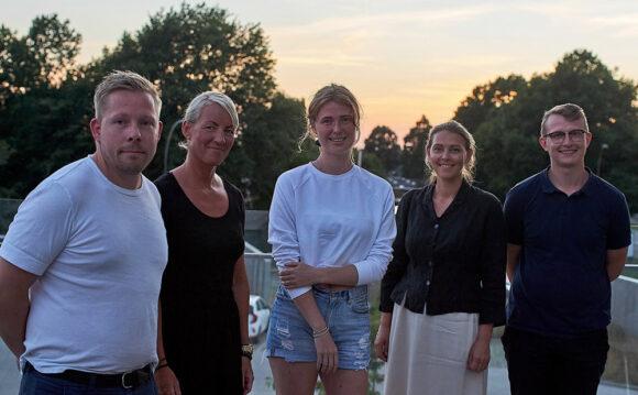 Nyvalgt afdelingsbestyrelse (fra venstre): Morten, Helle, Simone, Camilla og Kenneth.