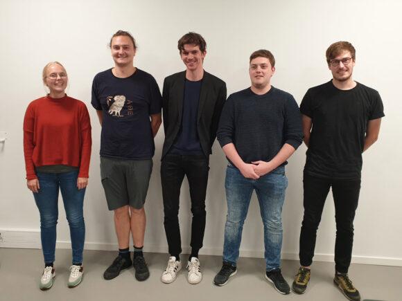 Den nye bestyrelse (fra venstre) Signe Lyngsø, Dennis Lambertsen, Gorm Henningsen, Albert Rasmussen og Mark Iele Rasmussen.