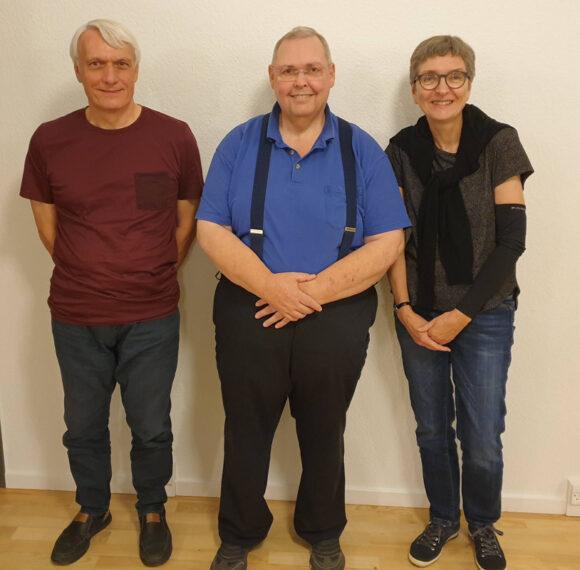 Den nye bestyrelse fra venstre Thomas Busch, Ivan Lerke og Liselotte Jacobsen.