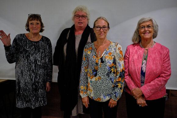 Den nye bestyrelse (fra venstre) Inge Lise, Dorthe , Bernadette og Anne Marie.