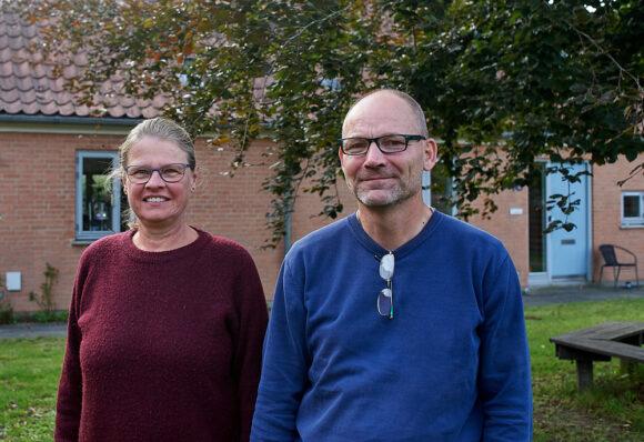 Formand Pernille Schmidt og Carsten Sommer fra afdelingsbestyrelsen.