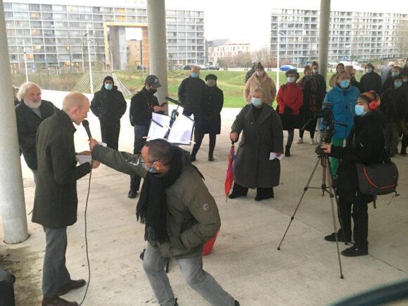 Foreningsbestyrelsesmedlem Mathias L. Kofoed-Ottesen fra foreningsbestyrelsen talte dunder mod ghettoloven.