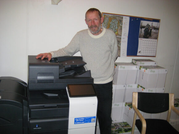 Søren Løkkegaard er klar til at trykke bladet.