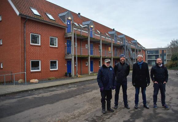 Fra venstre: Erik Vilhelmsen, Paw Simon Krogh, Gert Sørensen og Rene Qvist Jensen roser alle samarbejdet om projektet.